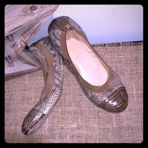 Tory Burch Python Ballerina Flat 8.5